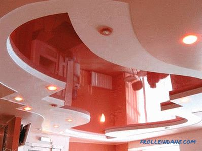 Soffitto multilivello fai da te - installazione di un soffitto a più livelli + foto e video