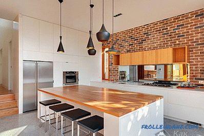Mattoni Per Pareti Cucina.Il Design Delle Pareti In Cucina In Dettaglio Sul Design