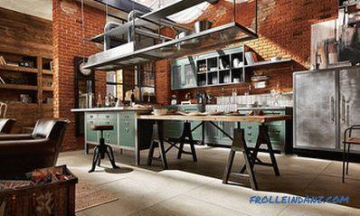 Cucina in stile loft - 100 idee per interni con foto