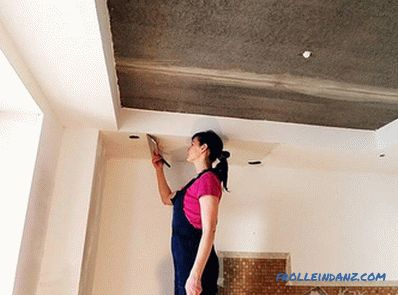 Allinea il soffitto con le tue mani - allinea la superficie del soffitto (+ foto)