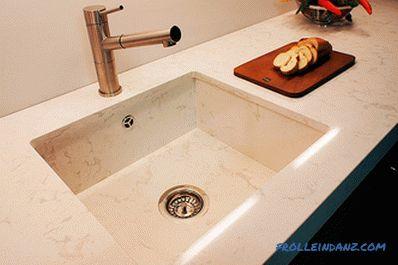 Lavello in pietra per la cucina - i pro ei contro di vari tipi
